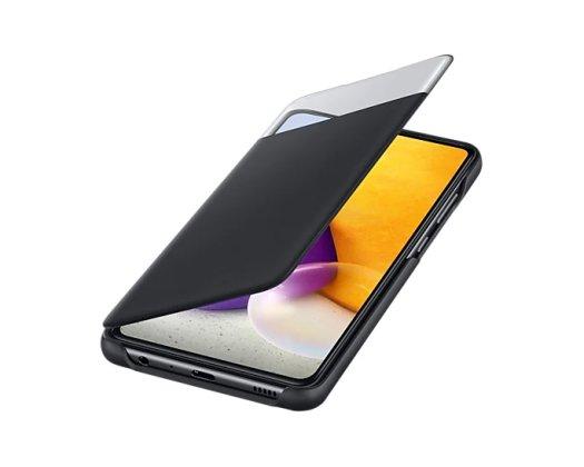Samsung Galaxy A72 Smart S View preklopna maska Crni